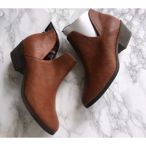 Faded Glory Leather Ankle cutout booties